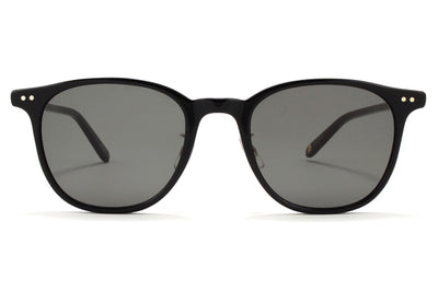 Garrett Leight - Beach Sunglasses Black-Gold with G15 Lenses