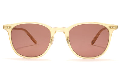 Garrett Leight - Beach Sunglasses Blonde-Silver with Bordeaux Lenses