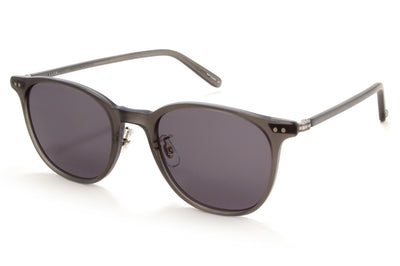 Garrett Leight - Beach Sunglasses Matte Grey Crystal-Brushed Silver with Grey Lenses
