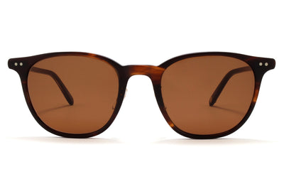 Garrett Leight - Beach Sunglasses Matte Mahogany Tortoise-Matte Gold with Oak Lenses