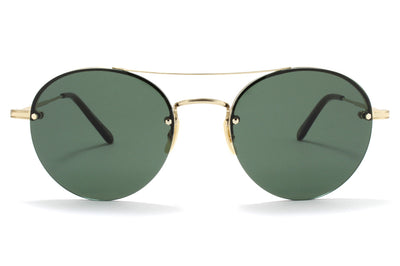 Garrett Leight® - Beaumont Sunglasses Gold-Hazel with G15 Lenses