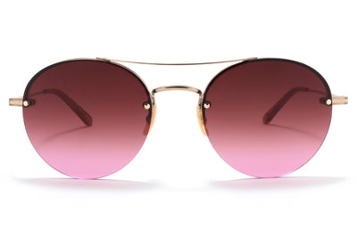 Garrett Leight® - Beaumont Sunglasses Rose Gold-Dove with Cherry Bomb Lenses