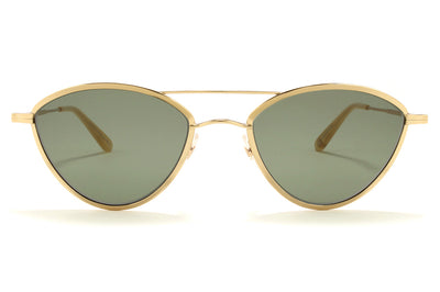 Garrett Leight - Breeze Sunglasses Gold-Toffee with Semi-Flat Green Lenses