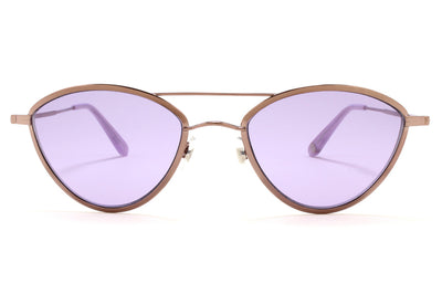 Garrett Leight - Breeze Sunglasses Lilac Silver-Lauren with Semi-Flat Lavender Lenses