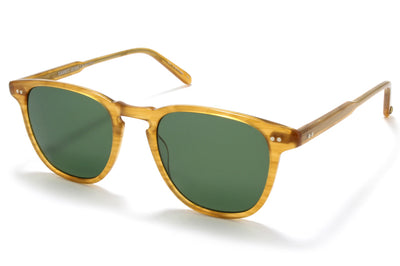 Garrett Leight - Brooks Sunglasses Butterscotch with Green Polarized Glass Lenses