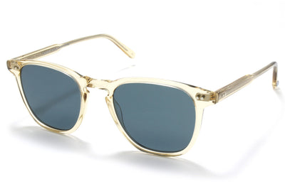 Garrett Leight - Brooks Sunglasses Champagne with Semi-Flat Blue Smoke Lenses