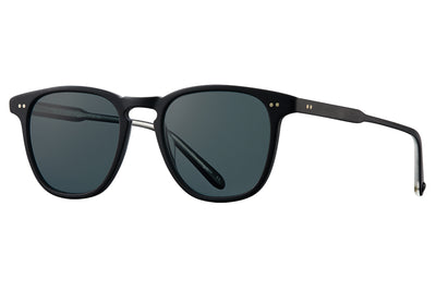 Garrett Leight - Brooks Sunglasses Matte Black with Blue Smoke Polarized Glass Lenses