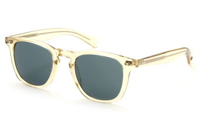 Garrett Leight - Brooks X Sunglasses Champagne with Blue Smoke Lenses