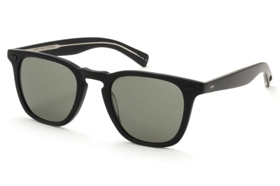Garrett Leight - Brooks X Sunglasses Matte Black with Pure Grey Lenses