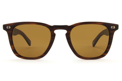 Garrett Leight - Brooks X Sunglasses Matte Brandy Tortoise with Pure Brown Lenses