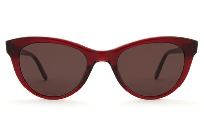GLCO x Clare V. Sunglasses Merlot with Flat Black Liquorice Lenses