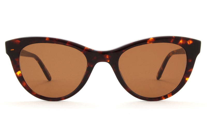 GLCO x Clare V. Sunglasses Roux with Flat Oak Lenses