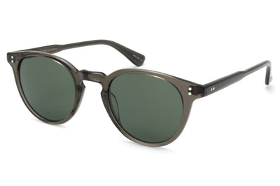 Garrett Leight - Clement Sunglasses Black Glass with Pure G15 Lenses