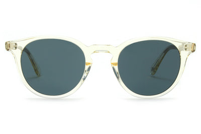 Garrett Leight - Clement Sunglasses Pure Glass with Pure Blue Smoke Lenses