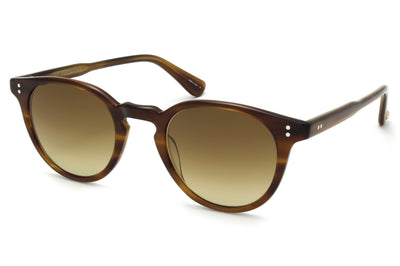 Garrett Leight - Clement Sunglasses Saddle Tortoise with Pure Olive Gradient Lenses