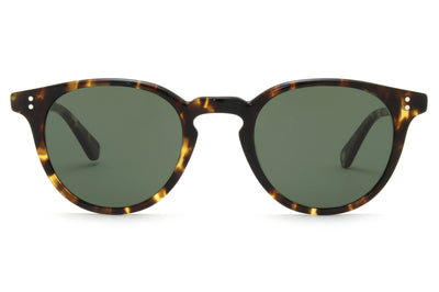 Garrett Leight - Clement Sunglasses Tuscan Tortoise with Pure G15 Lenses