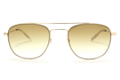 Garrett Leight® - Club House Sunglasses Gold-Crystal with Semi-Flat Cappuccino Gradient Lenses
