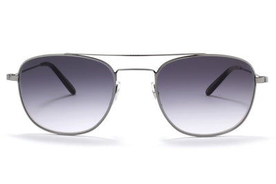 Garrett Leight® - Club House Sunglasses Pewter-Basalt with Semi-Flat Black Gradient Lenses