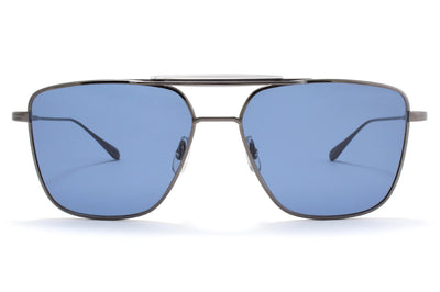 Garrett Leight® - Convoy Sunglasses Gunmetal-Slate Grey with Semi-Flat Marine Lenses