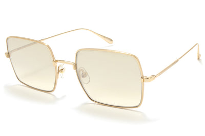 Garrett Leight® - Crescent Sunglasses Gold with Semi-Flat Dust Mirror Lenses