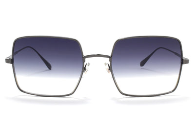 Garrett Leight® - Crescent Sunglasses Gunmetal with Semi-Flat Black Half Gradient Lenses