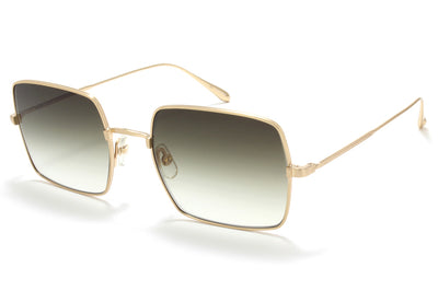 Garrett Leight® - Crescent Sunglasses Matte Gold with Semi-Flat Olive Gradient Lenses