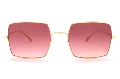 Garrett Leight® - Crescent Sunglasses Rose Gold with Semi-Flat Merlot Gradient Lenses