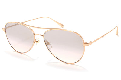 Garrett Leight® - Culver Sunglasses Rose Gold with Semi-Flat Pink Haze Mirror Lenses