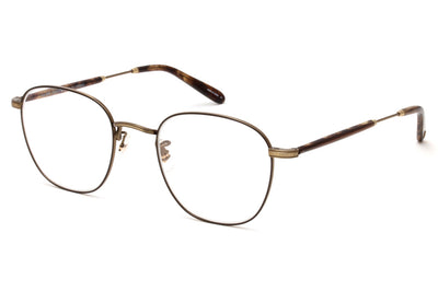 Garrett Leight - Grant M Eyeglasses Brushed Gold-Brown Marble Tortoise