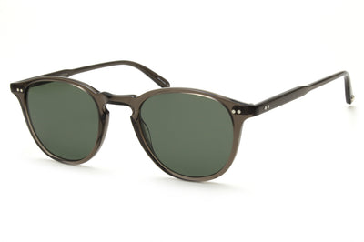 Garrett Leight® - Hampton Sunglasses Black Glass with Semi-Flat Pure G15 Lenses