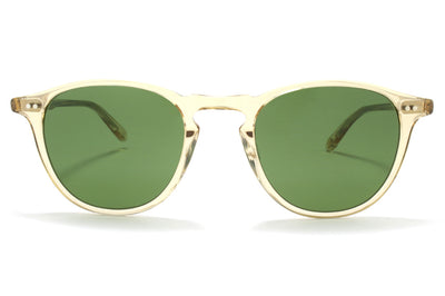 Garrett Leight® - Hampton Sunglasses Champagne with Pure Green Glass Lenses