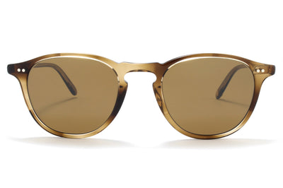 Garrett Leight® - Hampton Sunglasses Khaki Tortoise with Semi-Flat Pure Coffee Lenses