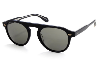 Garrett Leight - Harding Sunglasses Matte Black with Pure Grey Lenses