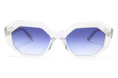 Garrett Leight - Jacqueline Sunglasses Silverstone with Semi-Flat Ultra Marine Gradient Lenses