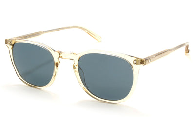Garrett Leight - Kinney Sunglasses Champagne with Blue Smoke Polar Lenses
