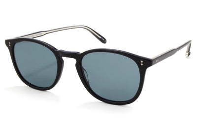 Garrett Leight - Kinney Sunglasses Matte Black with Semi-Flat Blue Smoke Lenses