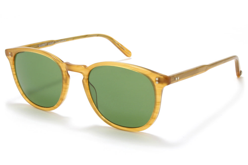 0034e44529 Blonde Tortoise Fade with Pure Green Glass Lenses · Kinney · Butterscotch  with Pure Green Glass Lenses