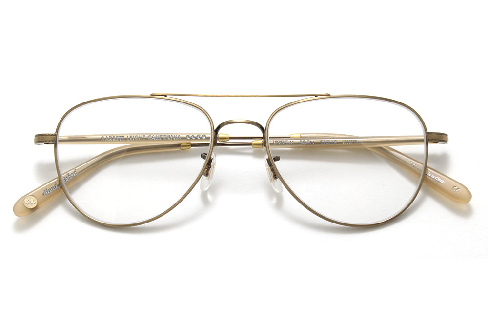 Garrett Leight® - Linnie Eyeglasses Brushed Gold-Bone