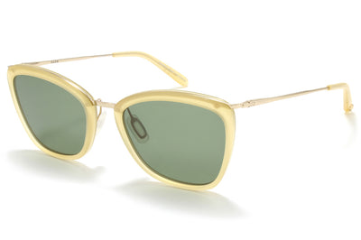 Garrett Leight® - Louella Sunglasses Toffee-Gold with Semi-Flat Green Lenses