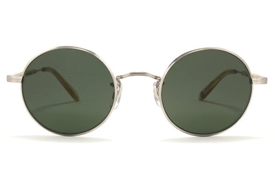 Garrett Leight - Lovers Sunglasses Brushed Silver-Blonde with Pure G15 Lenses