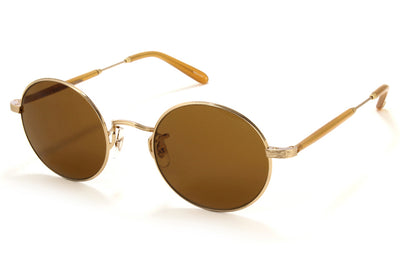 Garrett Leight - Lovers Sunglasses Matte Gold-Amber Honey with Pure Brown Lenses