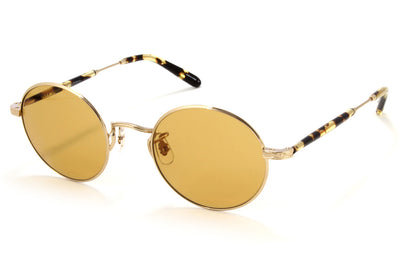 Garrett Leight - Lovers Sunglasses Gold-Block Tortoise with Pure Maple Lenses