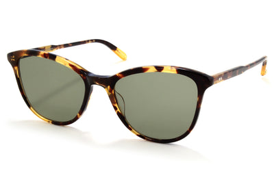 Garrett Leight - Magician Sunglasses Dark Tortoise with Semi-Flat Green Lenses