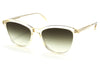 Garrett Leight - Magician Sunglasses Pure Glass with Semi-Flat Olive Gradient Lenses