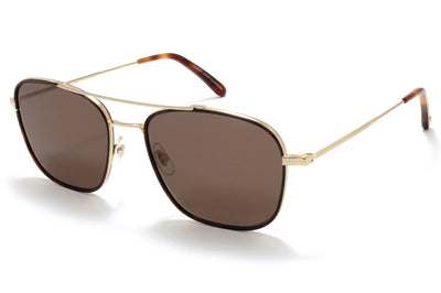 Garrett Leight® - Marr Sunglasses Umber-Gold with Semi-Flat Brown Smoke Lenses