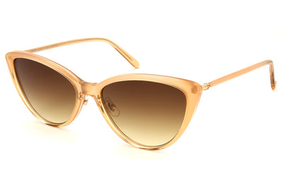 Garrett Leight - Mildred Sunglasses Michelle-Gold with Yellow Brown Gradient Lenses