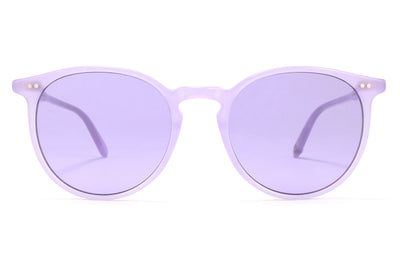 Garrett Leight - Morningside Sunglasses Lauren with Semi-Flat Lavender Lenses