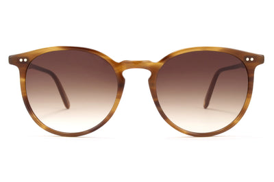 Garrett Leight - Morningside Sunglasses True Demi with Semi-Flat Sepia Gradient Lenses