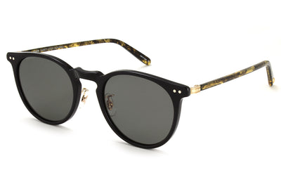 Garrett Leight - Ocean Sunglasses Black-Black Amber-Gold with G15 Lenses