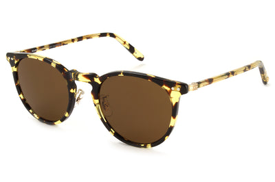 Garrett Leight - Ocean Sunglasses Block Tortoise-Gold with Sienna Lenses